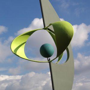 sculpture éolienne solaire