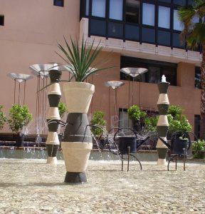 fontaine artistique jardin méditerannén