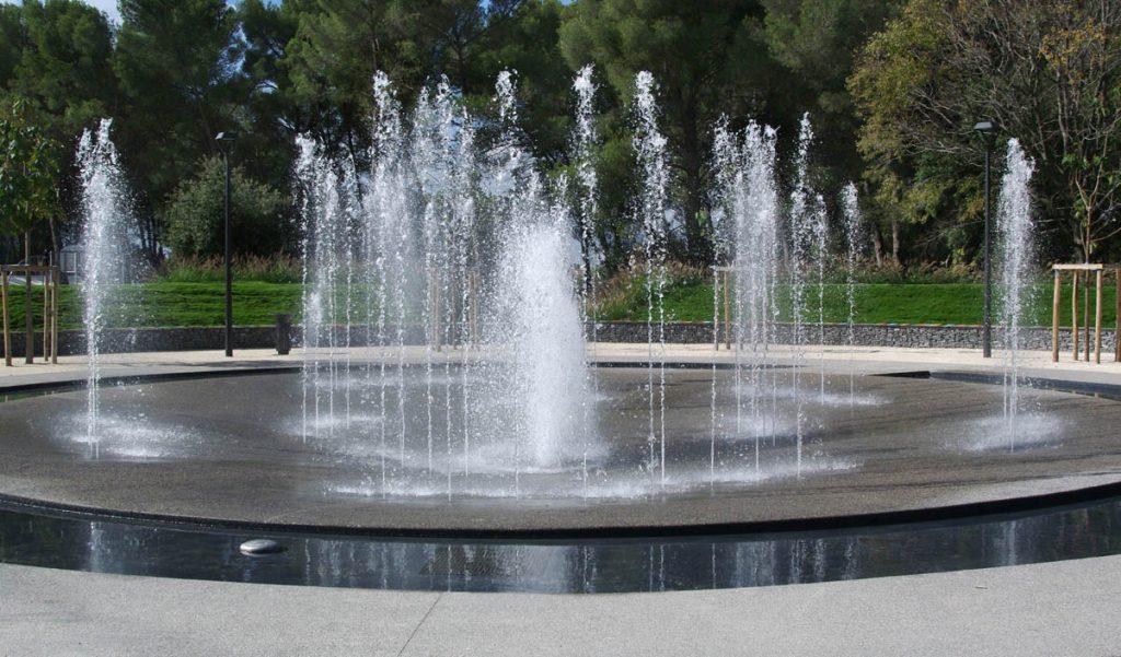 jets d'eau de fontaine seche