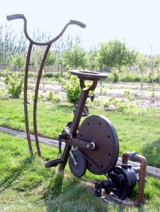sculpture pompage eau